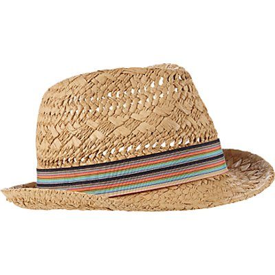 John Lewis Boys' Textured Trilby Hat, Natural