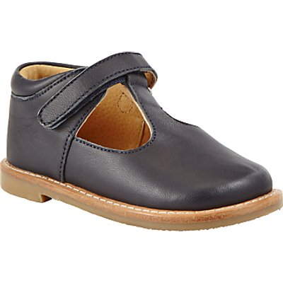 John Lewis Heirloom Collection Children's Frances T-Bar Leather Shoes, Navy