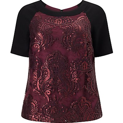 Studio 8 Kimmy Lace Top, Black/Red