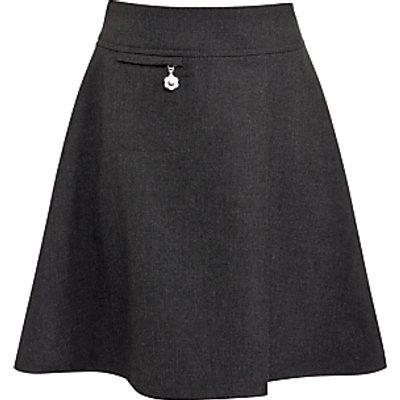 John Lewis Girls' Easy Care Adjustable Waist A-Line School Skirt