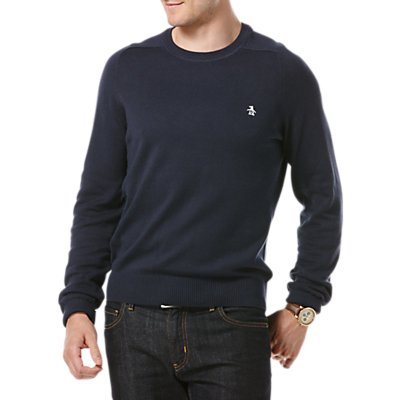 Original Penguin Raglan Sleeve Cotton Crew Neck Jumper