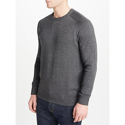 JOHN LEWIS & Co. Saddle Knit Linen Cotton Jumper
