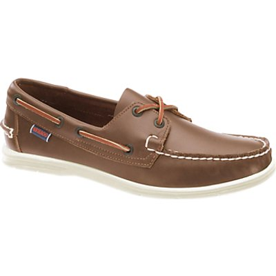 Sebago Liteside 2 Eye Boat Shoes, Medium Brown