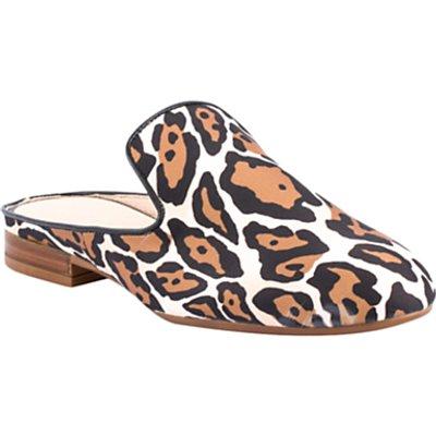 Unisa Dewey Open Back Mule Loafers, Natural Leopard