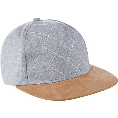 John Lewis Children's Flat Peak Baseball Cap, Grey