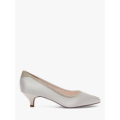 Rainbow Club Bobbie Cone Heeled Court Shoes, Ivory