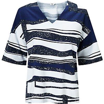 Kin by John Lewis V-Neck Oversized Print T-Shirt, Blue