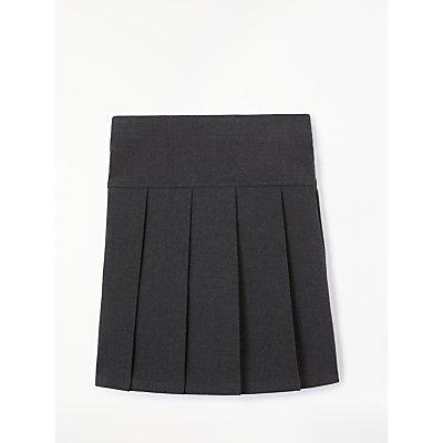 John Lewis Generous Girls' Fit Adjustable Waist Pleated School Skirt