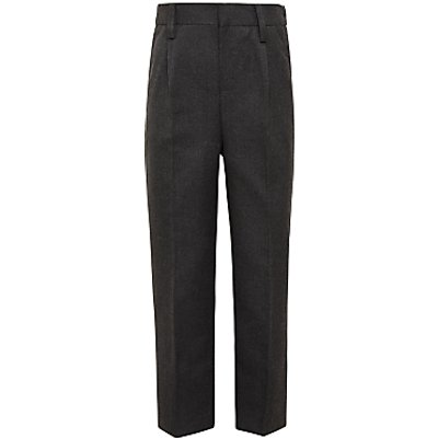 John Lewis Boys' Easy Care Adjustable Waist Slim Fit School Trousers, Regular Length