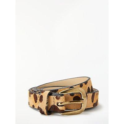 John Lewis Sarah Smart Daytime Leather Belt, Leopard