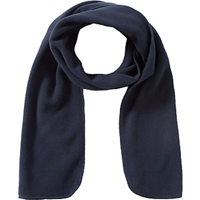 School Fleece Scarf, One Size, Navy
