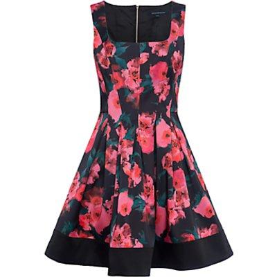 French Connection Allegro Poppy Satin Dress, Multi