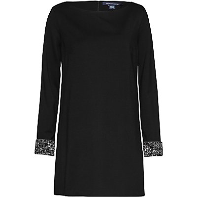 French Connection Crystal Long Sleeve Tunic Dress, Black