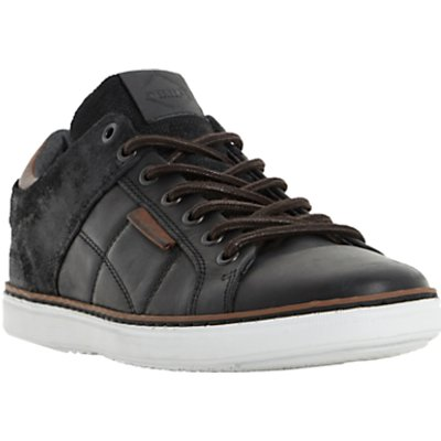 Dune Tobey Quilted Panel Leather Trainers