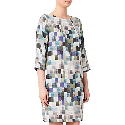 Kin by John Lewis Painted Square Print Dress
