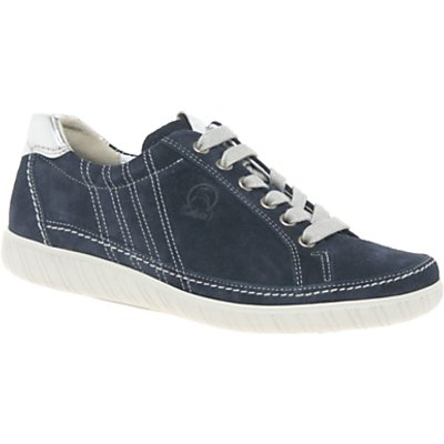 Gabor Amulet Wide Fit Lace Up Trainers, Navy