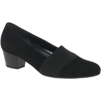 Gabor Sovereign Wide Fit Block Heeled Court Shoes