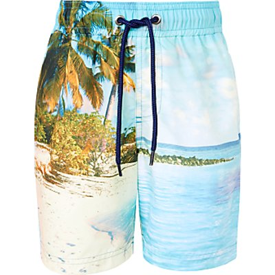 John Lewis Boys' Photographic Boardshorts, Multi