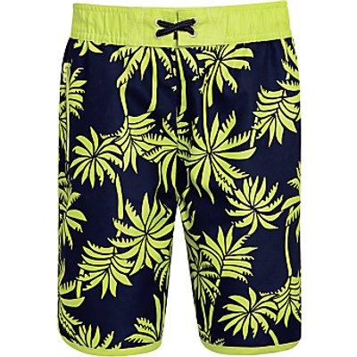 John Lewis Boys' Palm Print Surf Shorts, Multi