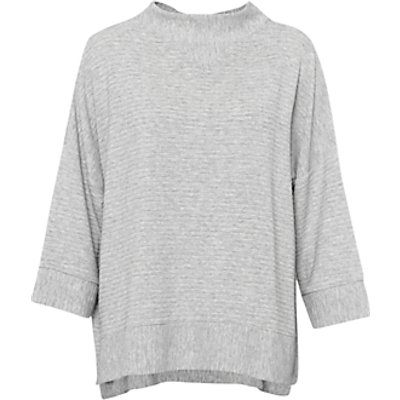 French Connection Sudan Ribbed Marl Jersey Top  Grey - 887916312812