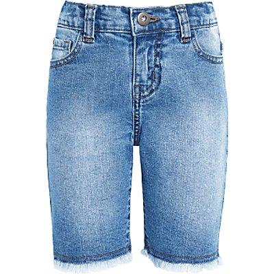John Lewis Girls' Denim Shorts, Blue