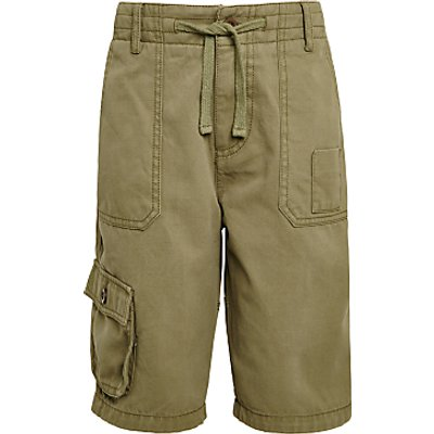 John Lewis Childrens' Cargo Shorts, Green