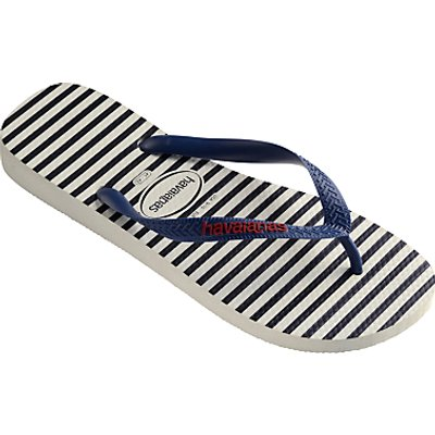 Havaianas Nautical Stripe Flip Flops, Blue/White
