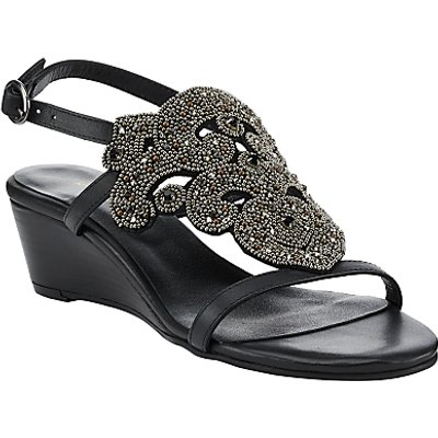 John Lewis Iona Beaded Wedge Heeled Sandals