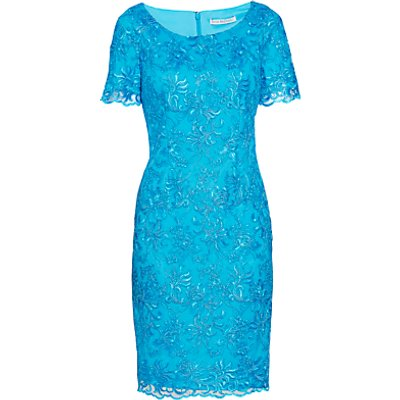 Gina Bacconi Embroidered Corded Dress