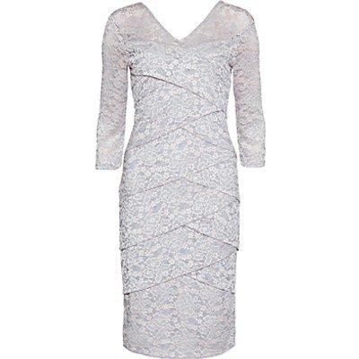 Gina Bacconi Two Tone Lace Dress, Ballet Pink