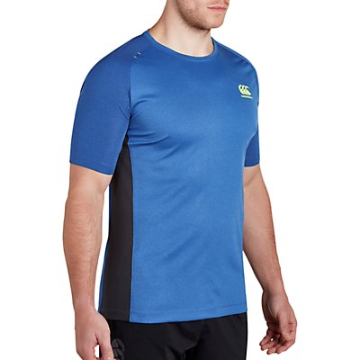 Canterbury of New Zealand VapoDri Poly Rugby T-Shirt, Blue