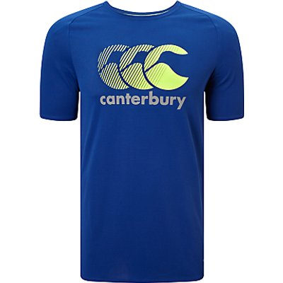 Canterbury of New Zealand Vapodri Poly Logo T-Shirt, Blue