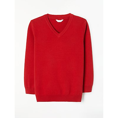 John Lewis Unisex School V-Neck Jumper