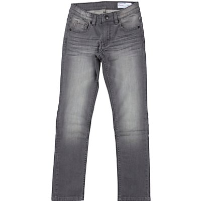 Polarn O. Pyret Children's Slim Fit Denim Jeans, Grey