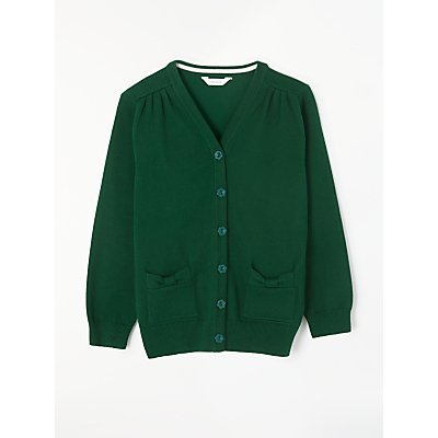 John Lewis 100% Pure Cotton V-Neck School Cardigan