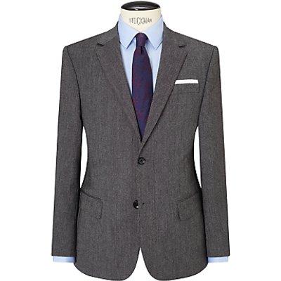 John Lewis Donegal Regular Fit Suit Jacket, Light Grey