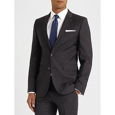 John Lewis Semi Plain Super 100s Wool Travel Suit Jacket, Black