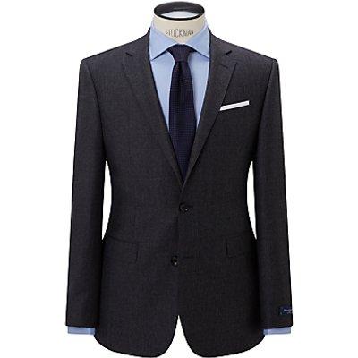 John Lewis Ermenegildo Zegna Super 160s Wool Check Half Canvas Tailored Suit Jacket, Charcoal
