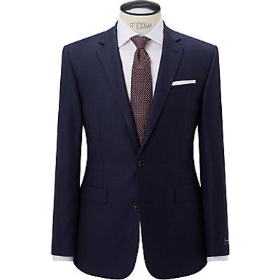 John Lewis Ermenegildo Zegna Super 160s Wool Birdseye Half Canvas Tailored Suit Jacket, Navy