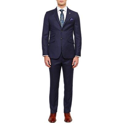 Ted Baker Chalkyj Wool Birdseye Tailored Suit Jacket, Dark Blue