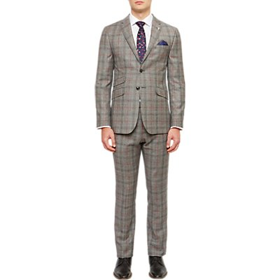 Ted Baker Hemplej Tailored Fit Check Suit Jacket, Grey