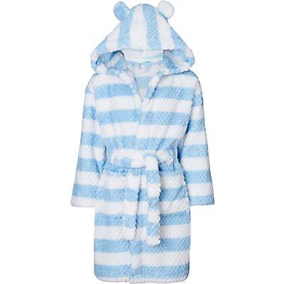 John Lewis Children's Colour Block Stripe Robe, Blue