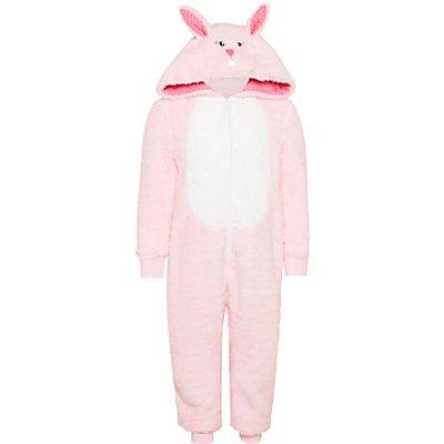 John Lewis Children's Bunny Onesie, Pink