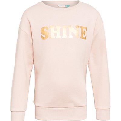 John Lewis Children's Shine Sweatshirt, Cameo Rose