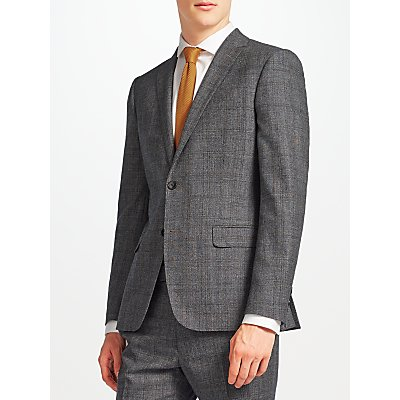 Kin by John Lewis Parnell Wool Check Slim Fit Suit Jacket, Charcoal
