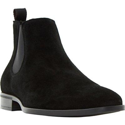 Dune Martime Chelsea Suede Boots, Black