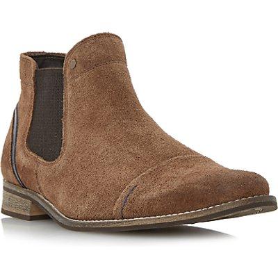 Dune Chili Toecap Detail Suede Chelsea Boots, Tan