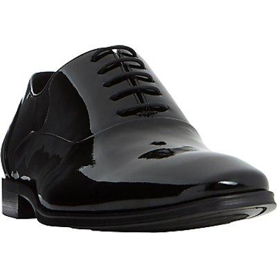 Dune Pluto Patent Oxford Shoes, Black