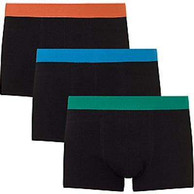 23400245 | John Lewis Colour Waistband Trunks  Pack of 3  Orange Blue Green Store