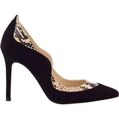 Karen Millen Suede and Snake Court Shoes